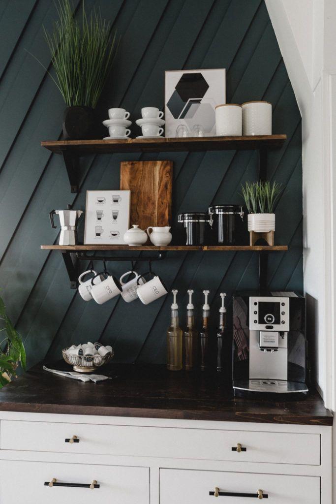 Coffee Bar Ideas - Modern Coffee Bar