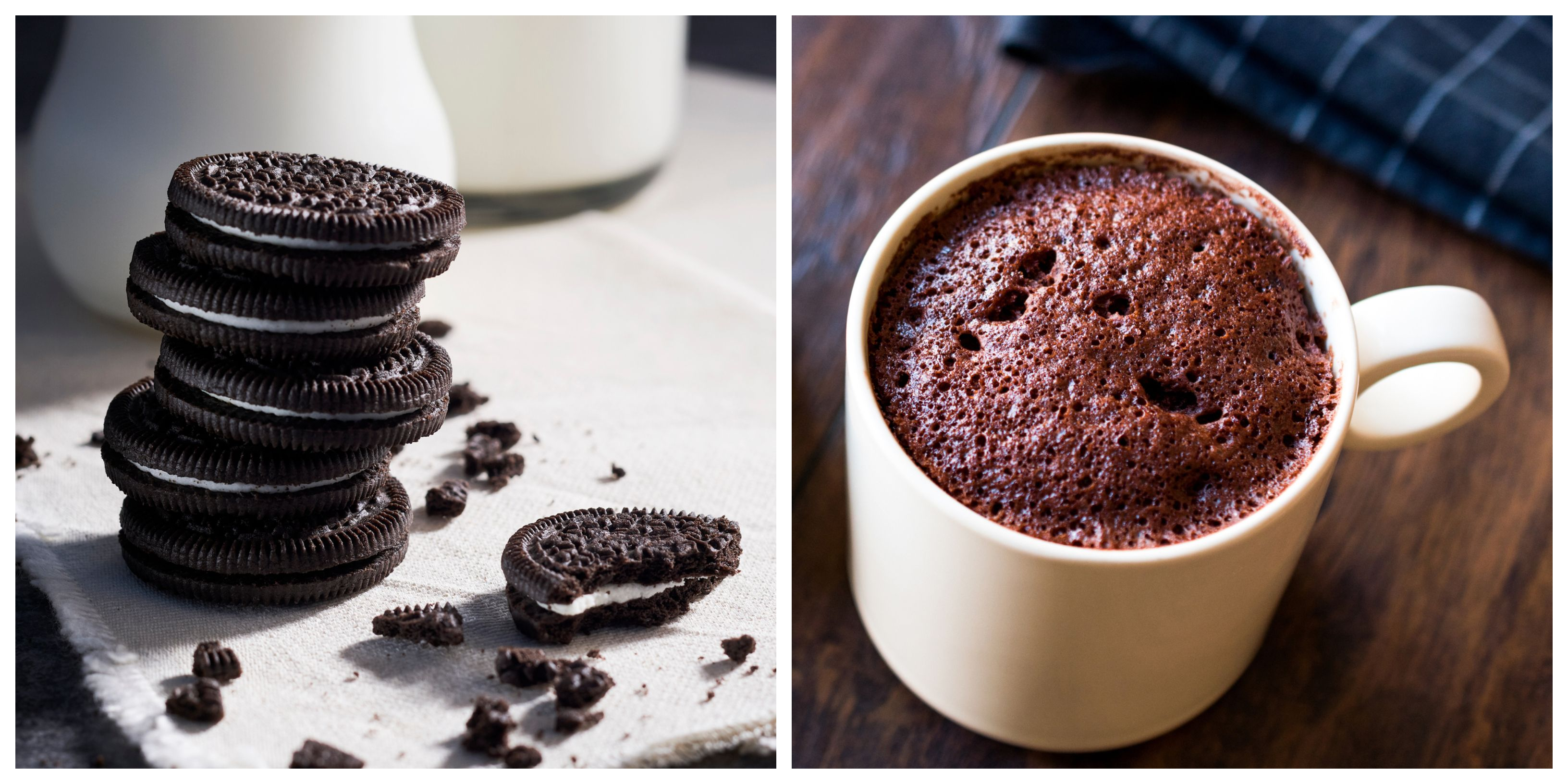 this two ingredient mug cake is the perfect afternoon pick me up