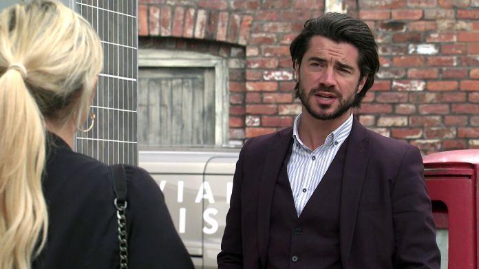 Nicky Wheatley and Adam Barlow on Coronation Street