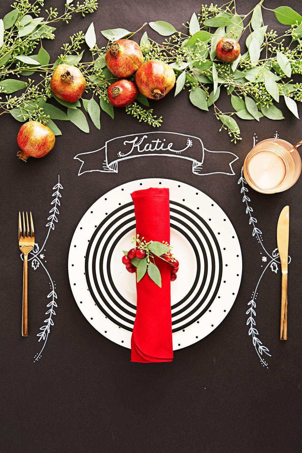 décoration de noël table de Noël bricolage