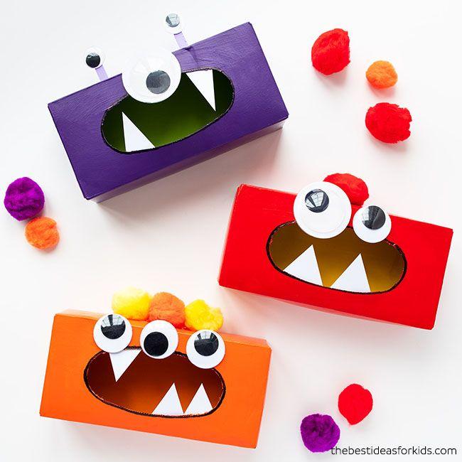 DIY Kids Activities - Tissue Box Monsters