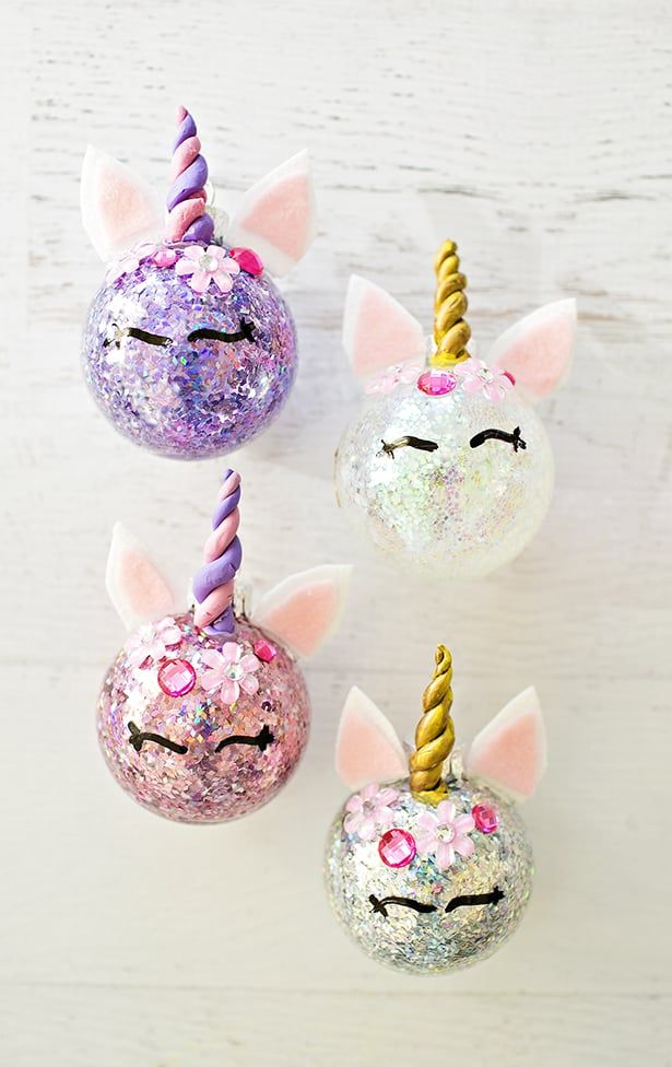 20 Unicorn Ornaments How To DIY Or Buy Fun Christmas