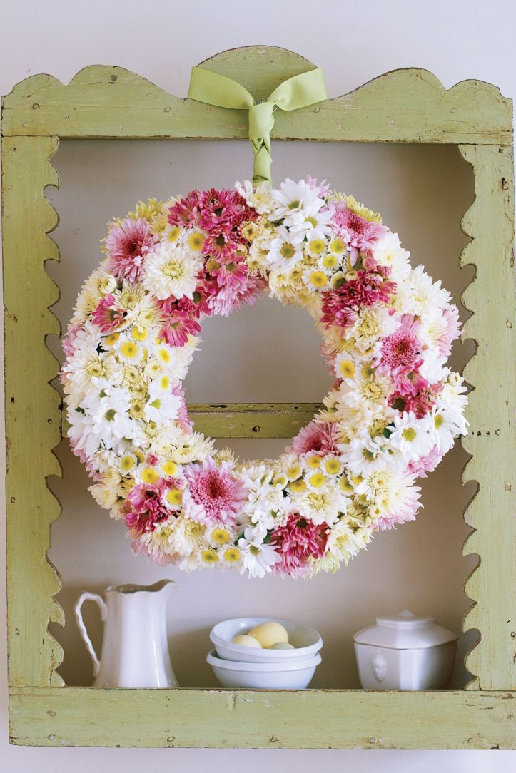 easter flowers - wreath