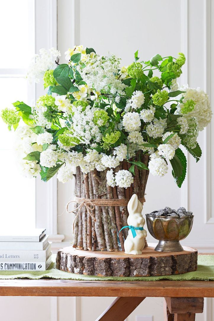 Easter Flowers - Wood Floral Stand