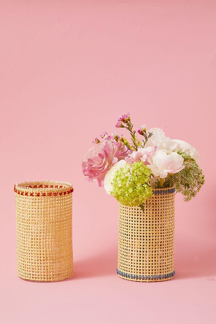 easter flowers - woven vase