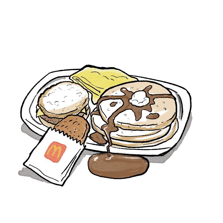 mcdonald's big breakfast with pancakes