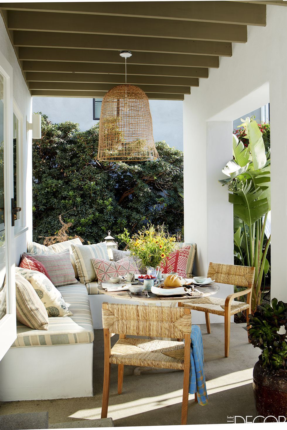 35 Porch Decorating Ideas - Front and Back Porch Design ... on Back Patio Porch Ideas id=17370