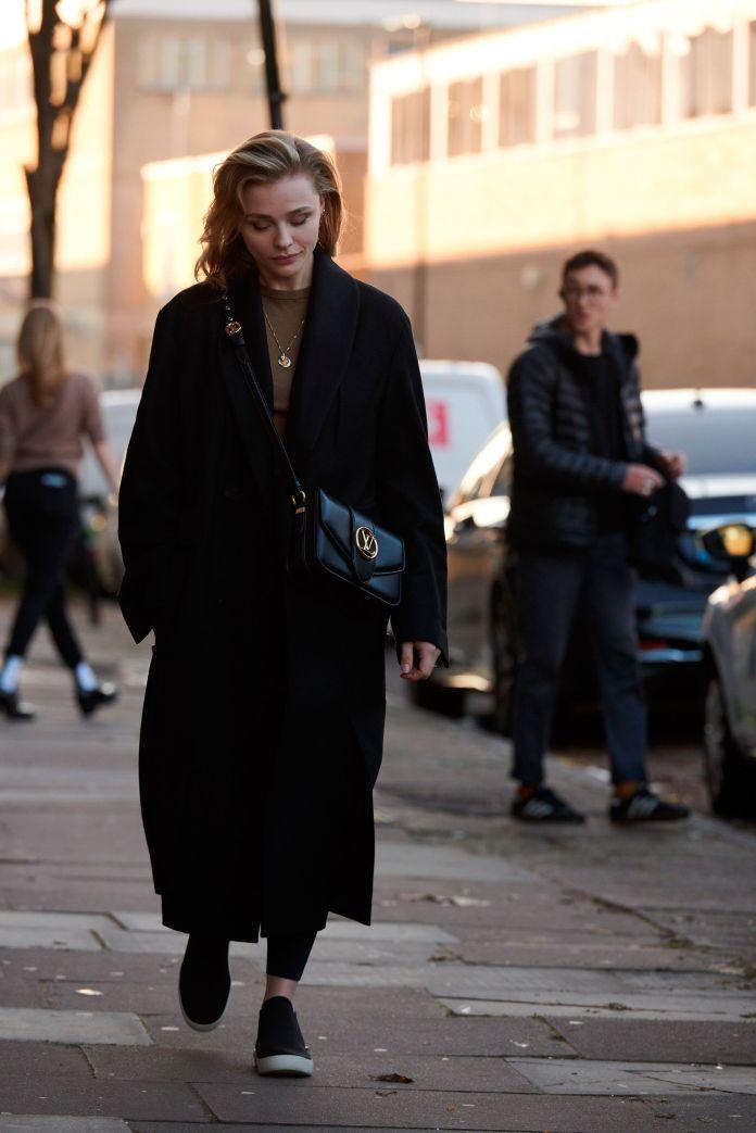 chloë grace moretz with the bag lv pont 9 of louis vuitton