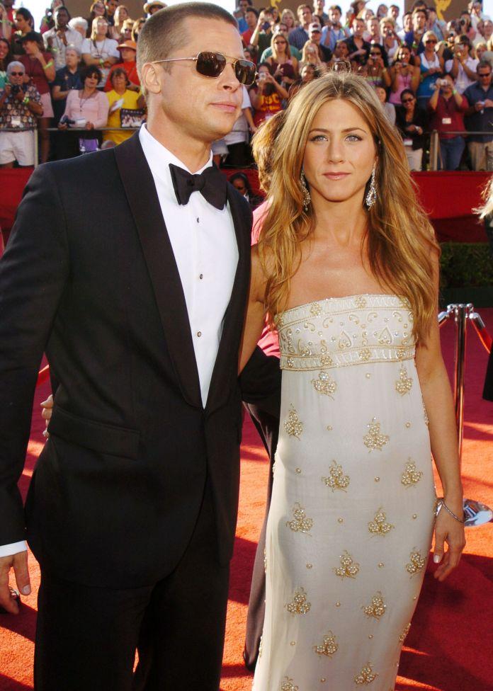 Jennifer Aniston and Brad Pitt when they were a couple