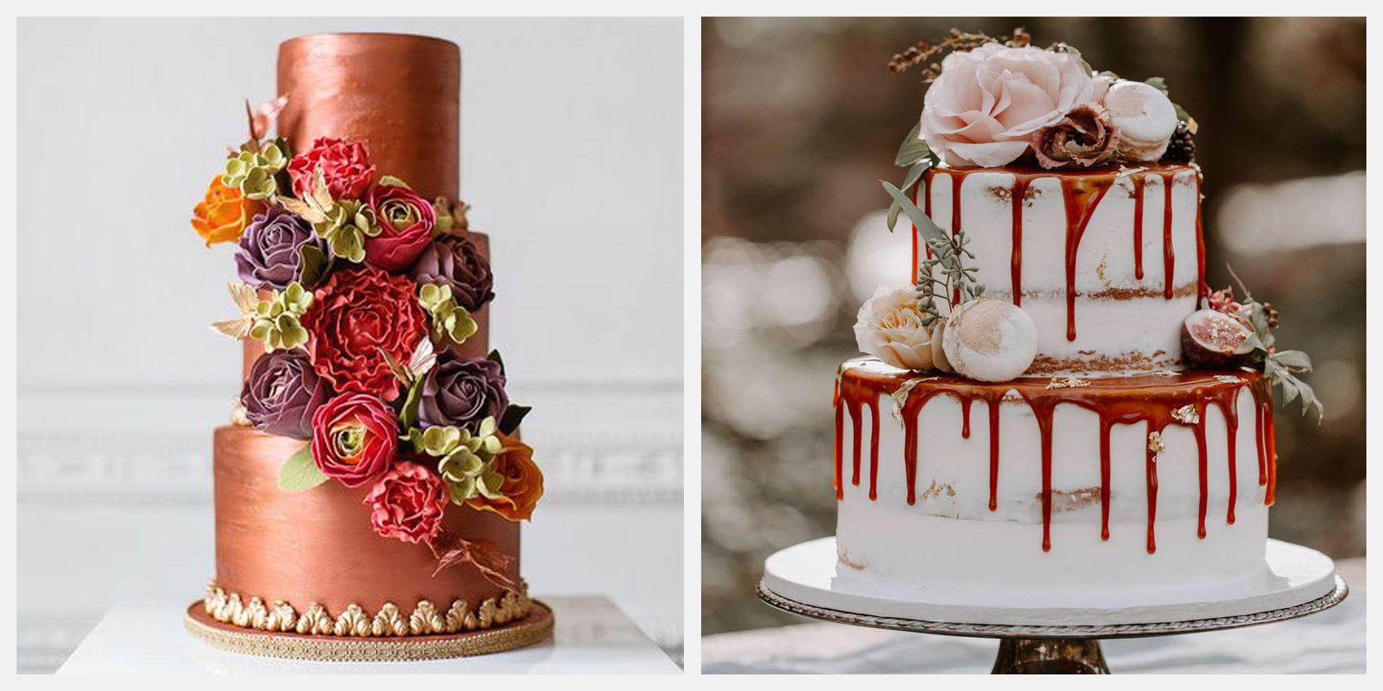22 Decadent Fall Wedding Cakes