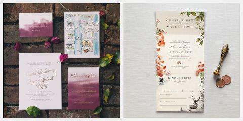 15 Best Fall Wedding Invitations Striking Autumn
