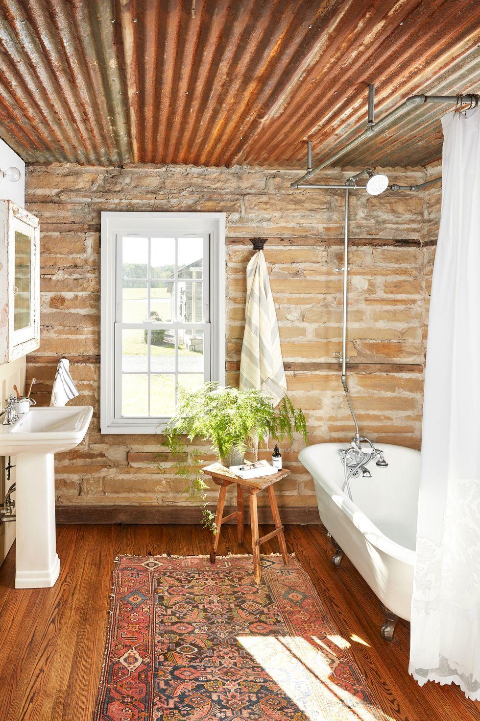 20 Best Farmhouse Bathroom Design Ideas - Farmhouse ... on Rustic Farmhouse Farmhouse Bathroom  id=59235