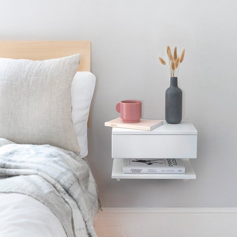floating shelf nightstand ideas