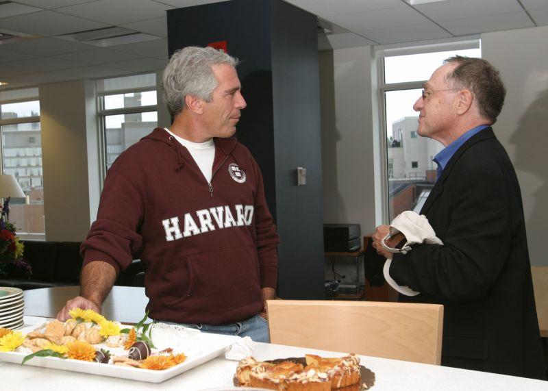 jeffrey epstein with professor alan dershowitz