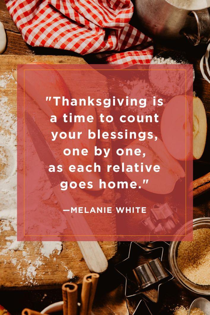 Melanie White Funny Thanksgiving Quotes