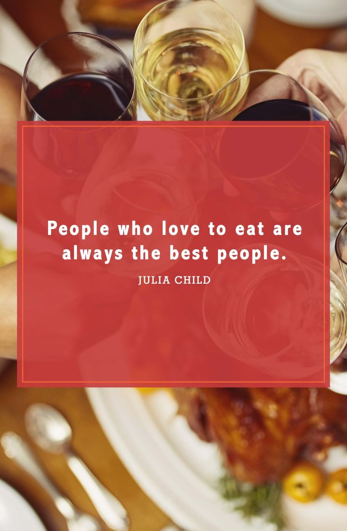 funny thanksgiving quotes julia child