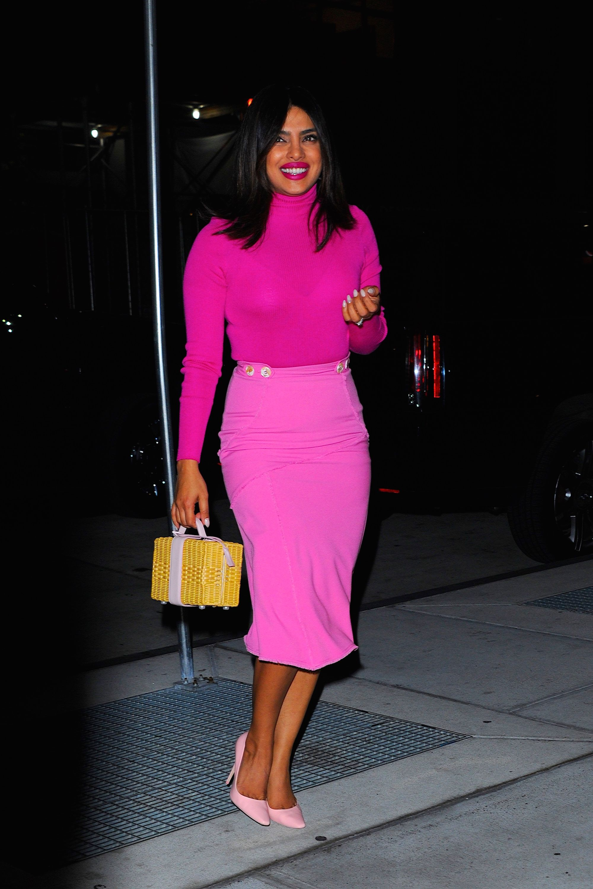 new york, ny   october 08  priyanka chopra seen out and about in manhattan on  october 8, 2019 in new york city  photo by robert kamaugc images