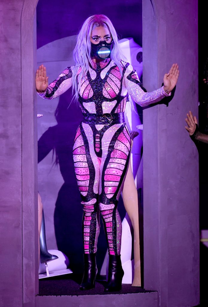 unspecified   august 2020 lady gaga performs during the 2020 mtv video music awards, broadcast on sunday, august 30th 2020 photo by kevin wintermtv vmas 2020getty images for mtv