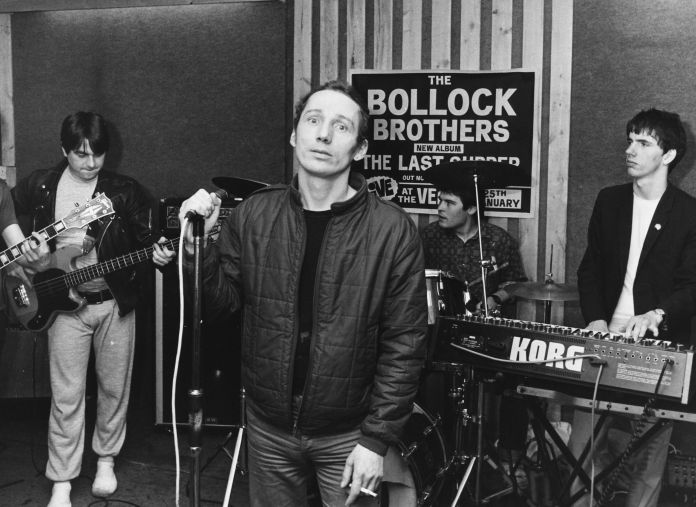 the infamous michael fagan, who broke in to the queens bedroom in buckingham palace, performing with band bollock brothers, april 26th 1983 photo by dave hogangetty images  local caption
