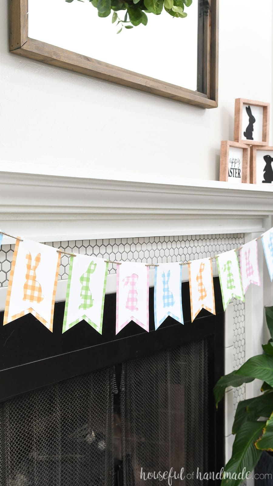 gingham bunny banner easter decorations