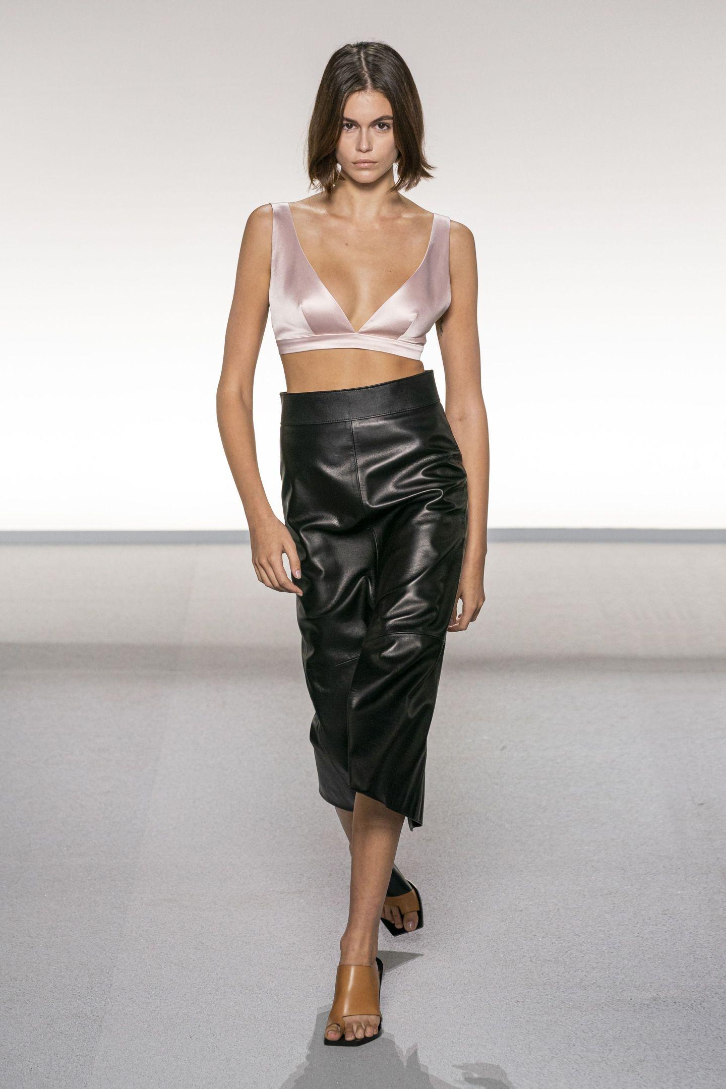Fashion model, Fashion show, Runway, Fashion, Clothing, Shoulder, Waist, Dress, Model, Fashion design,