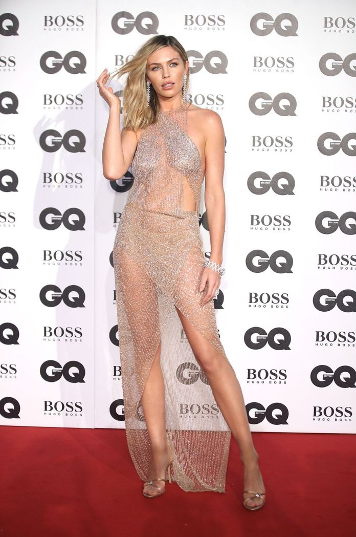 gq awards 2018 naked celebrity dresses