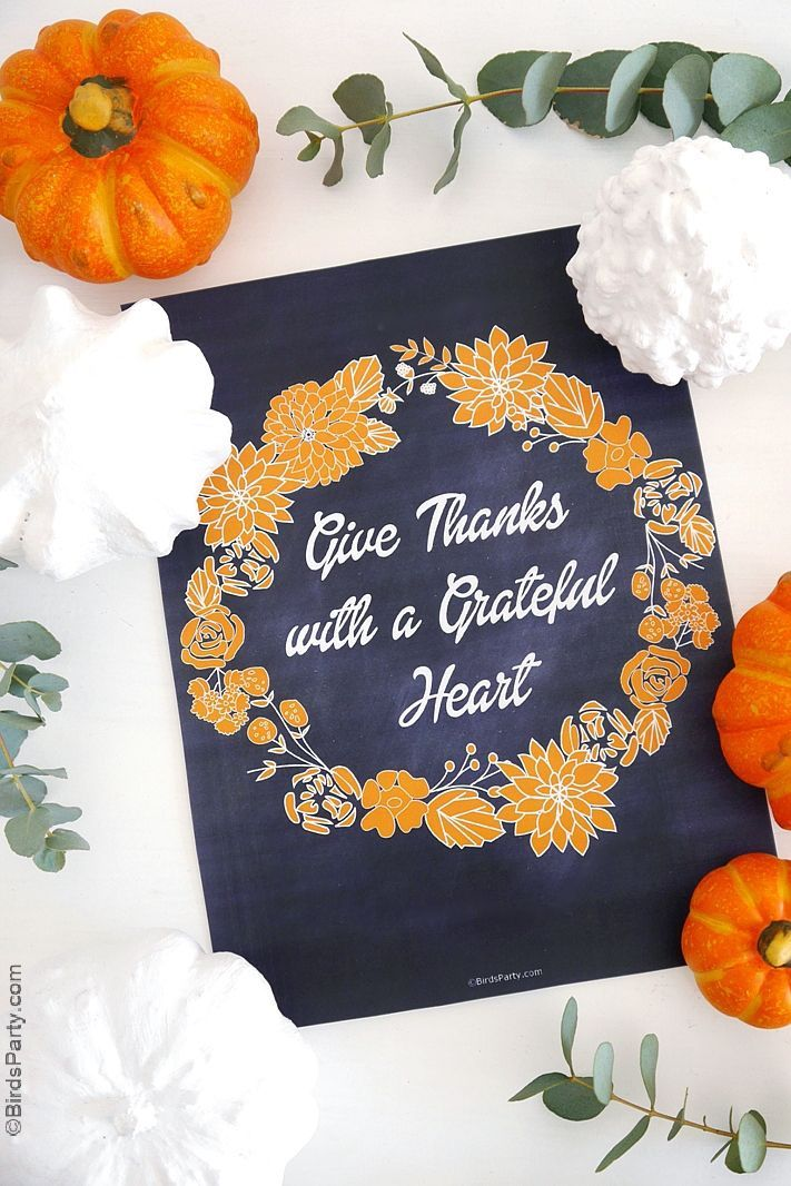 grateful heart sign thanksgiving decorations