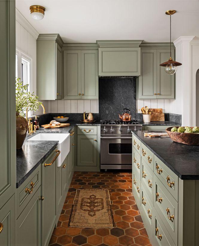 15 Best Green Kitchen Cabinet Ideas
