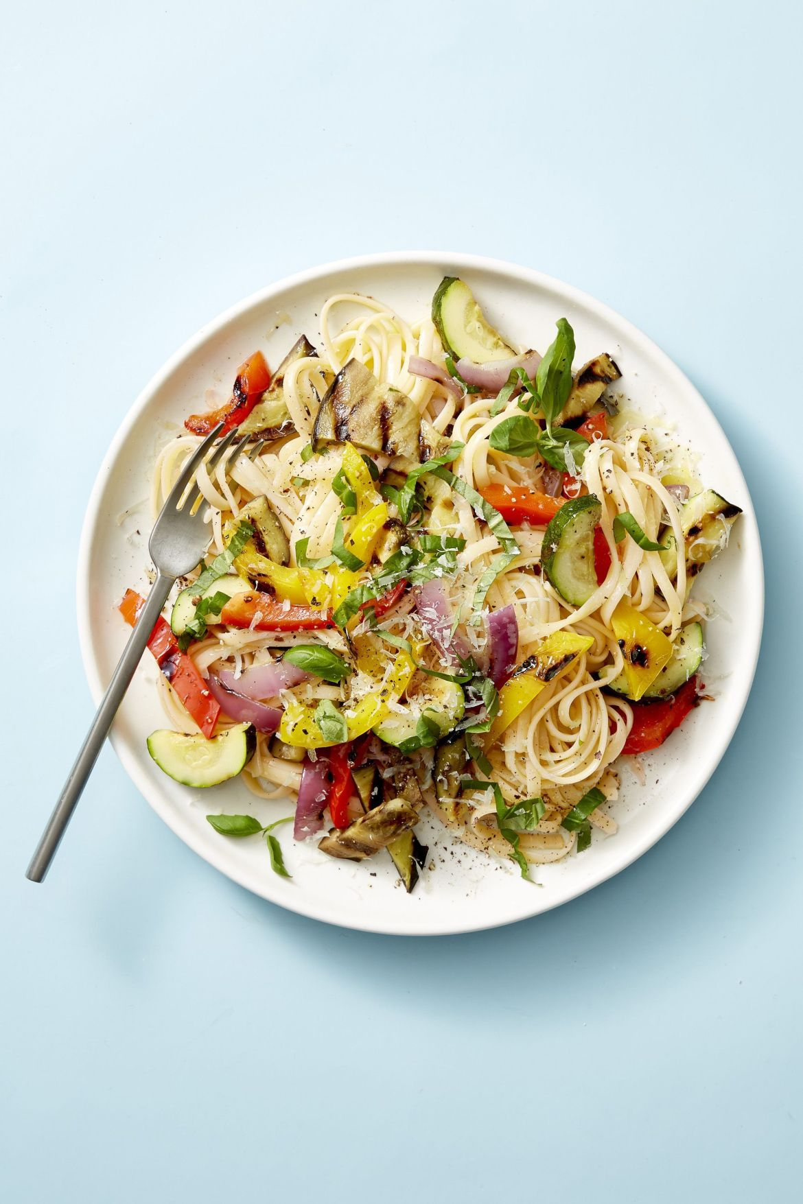 grilled ratatouille linguine healthy lunch ideas 1555338056 - Healthy Things to Eat for Lunch -19 Healthy Lunch Ideas for You