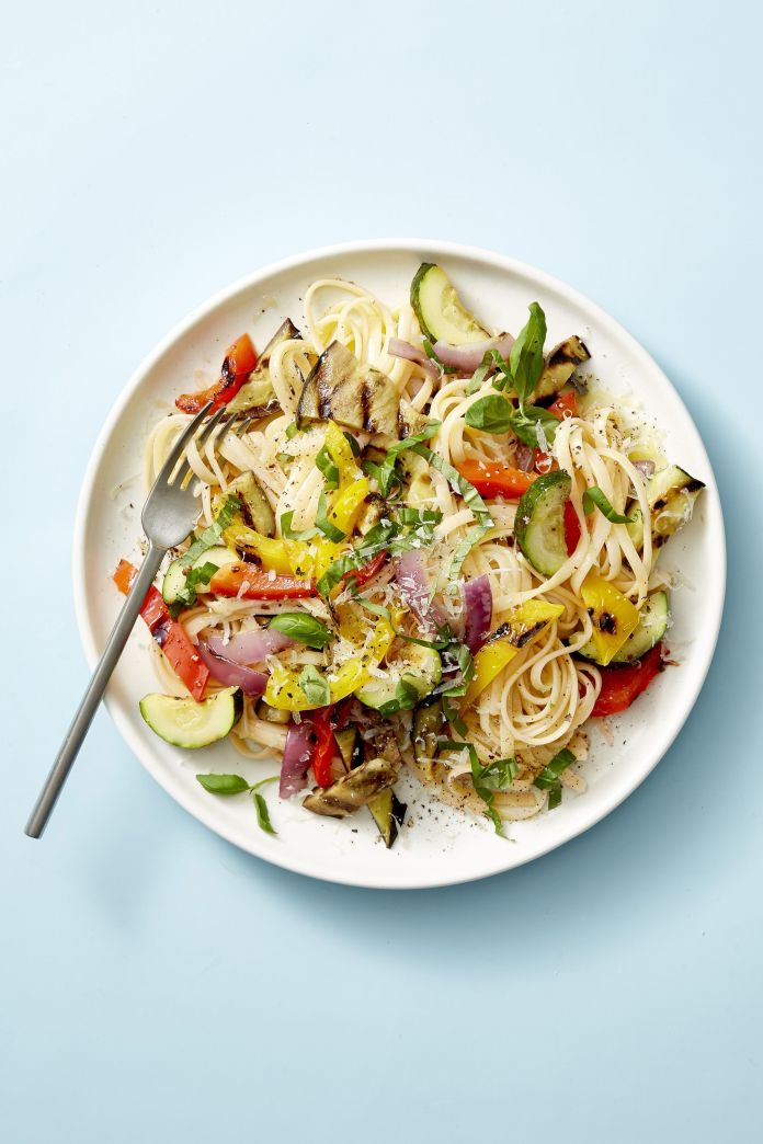 Grilled Ratatouille Linguine - Healthy Lunch Ideas