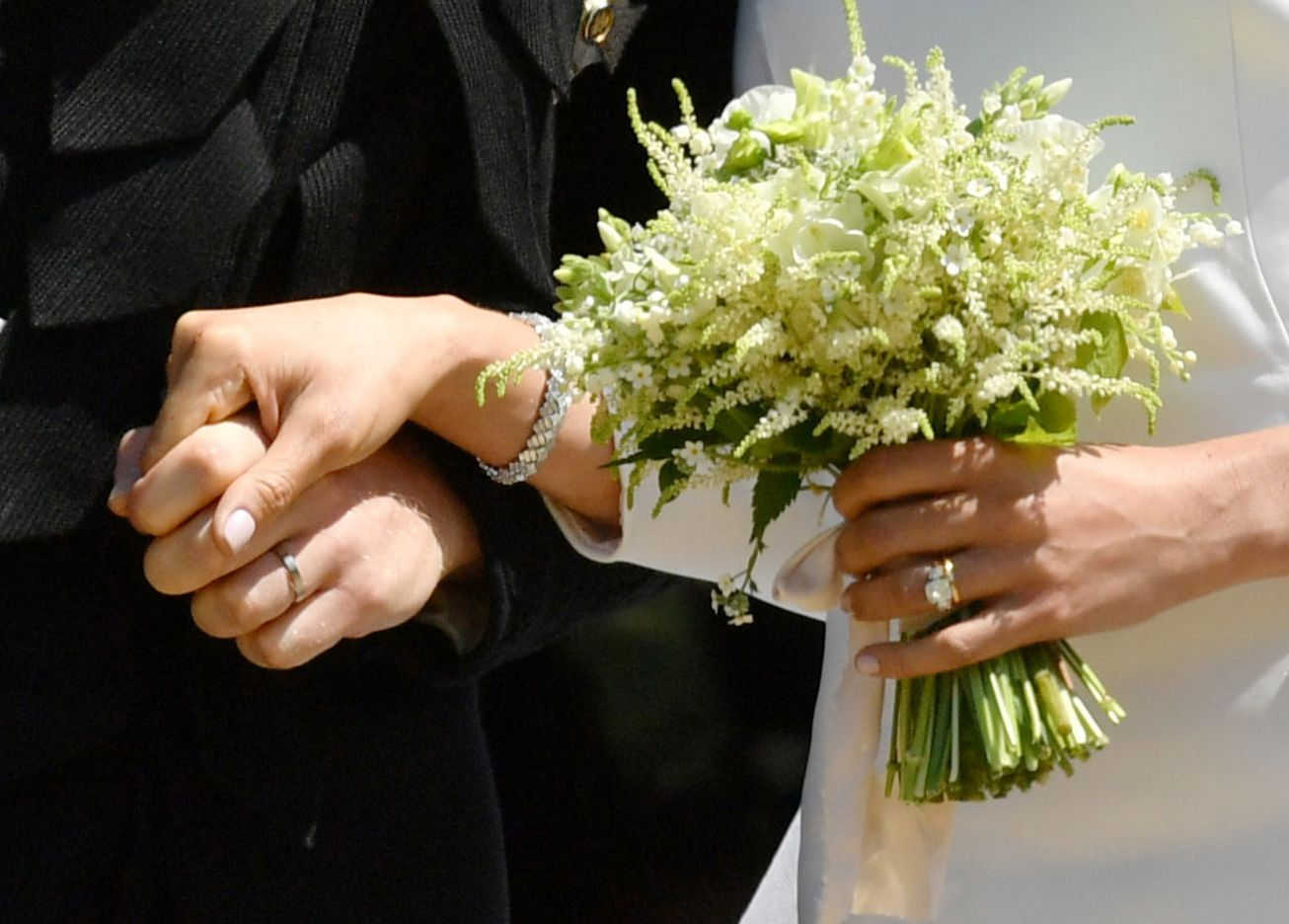 Prince Harry And Meghan Markle Wear Wedding Bands Meghan