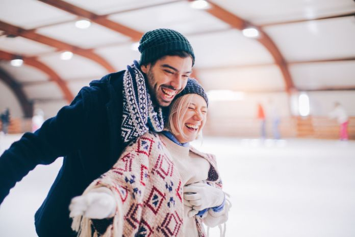 Having fun on ice