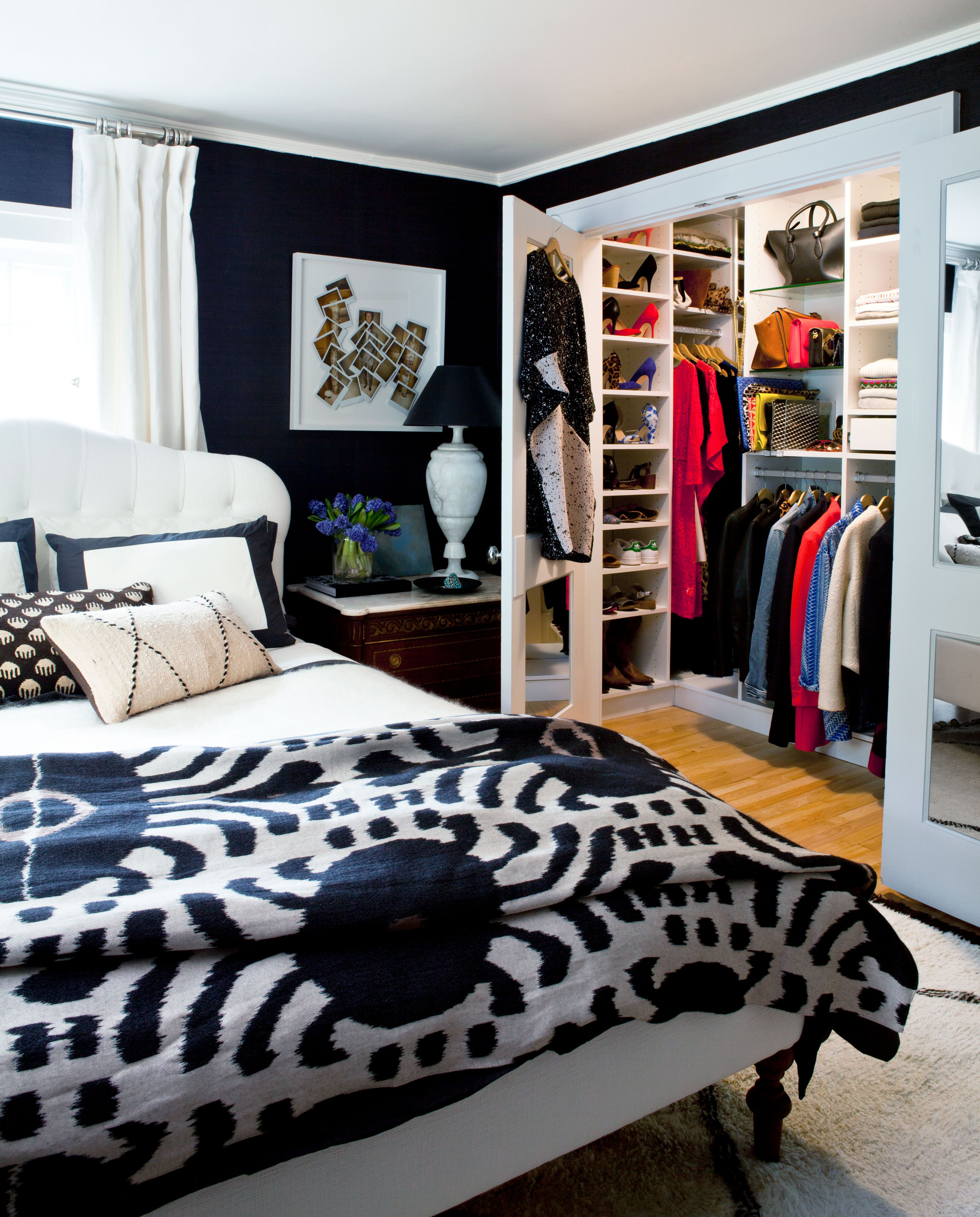 No curtains, sheers, blinds or drapery? 10 Stylish Black Bedroom Ideas How To Decorate A Black Bedroom
