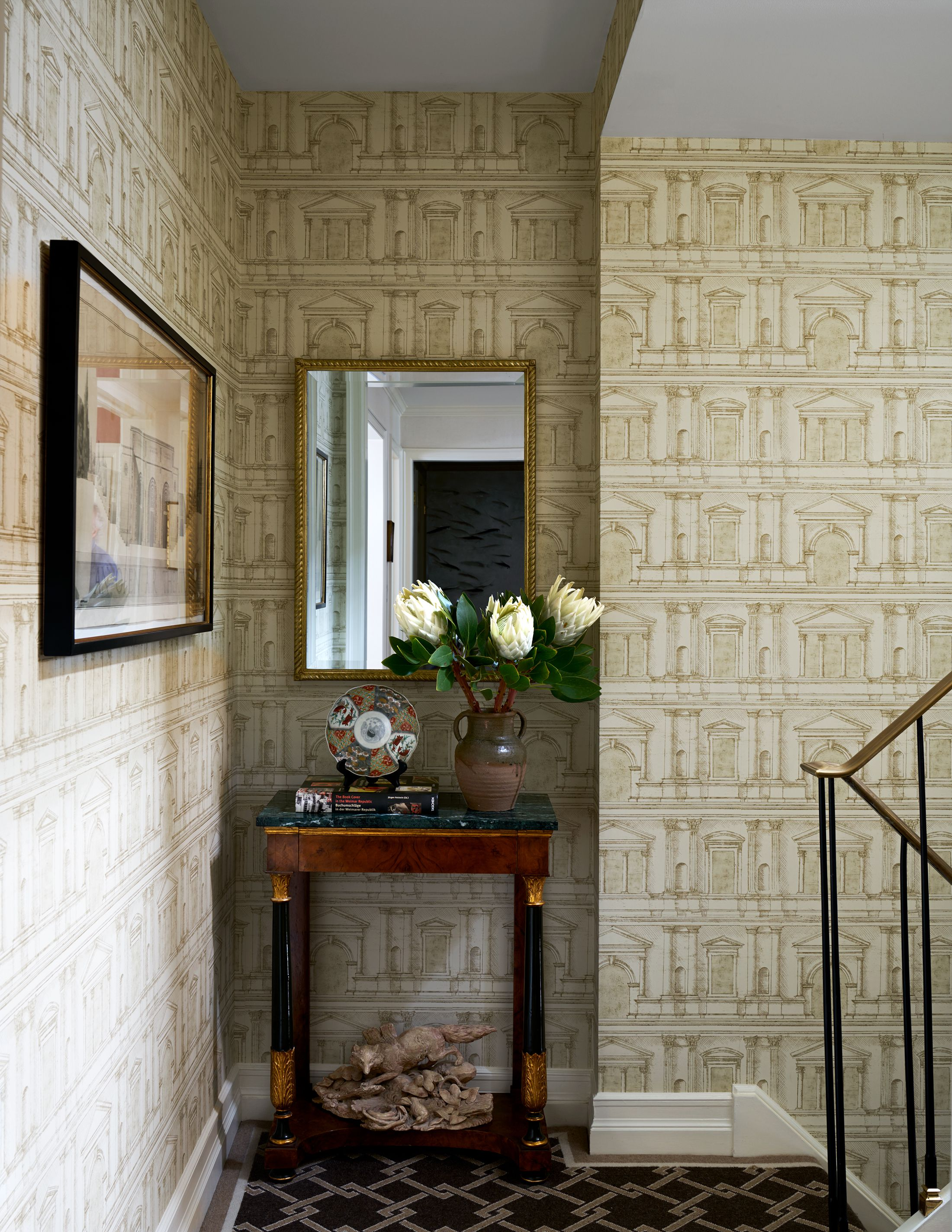 25 Stylish Hallway Wallpaper Ideas Entryway And Stairway Wall Decor