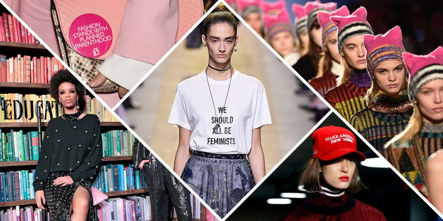 Should Fashion Designers Sell You Feminism  Politics On The Runway     Should Fashion Designers Sell You Feminism  Politics On The Runway at Fall  2018 Fashion Week