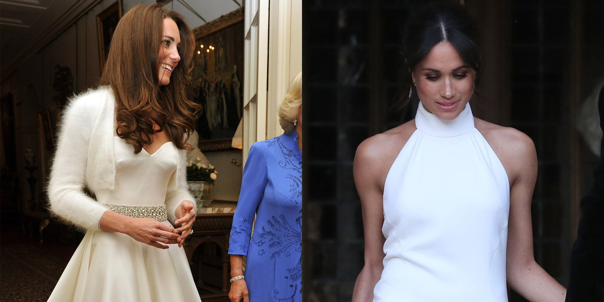 Meghan Markle's Second Royal Wedding Dress Compared To ...