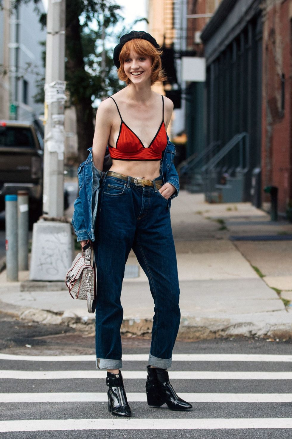 18 Wear It With High-Waisted Jeans