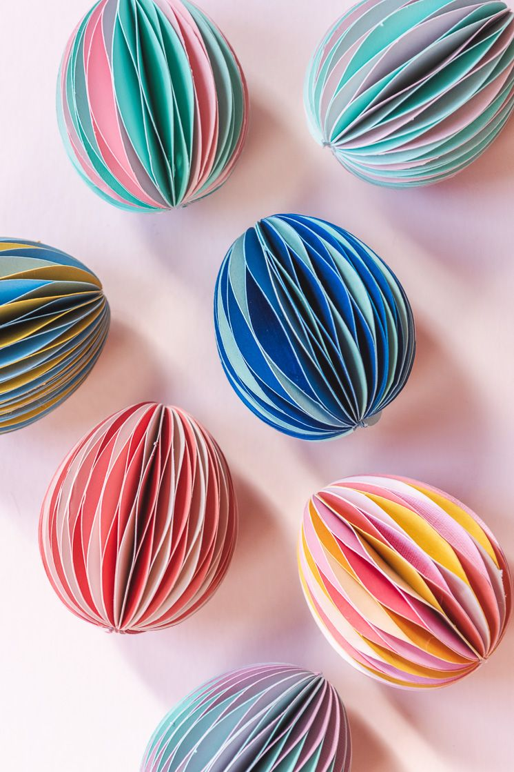 multicolored honeycomb easter eggs