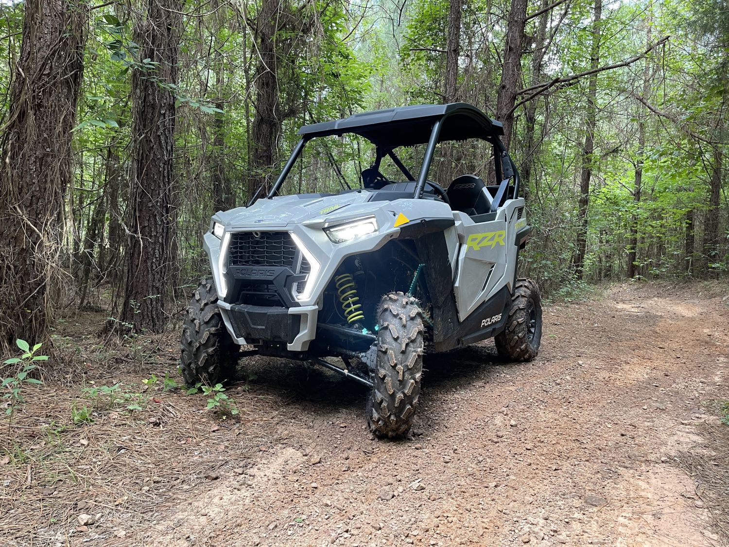 rzr trail in the woods