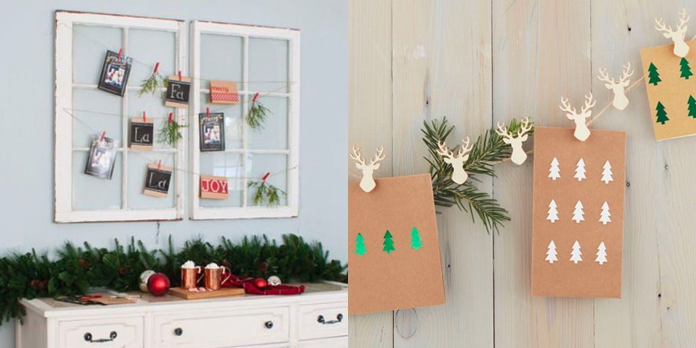 20 DIY Christmas Card Holder Ideas How To Display