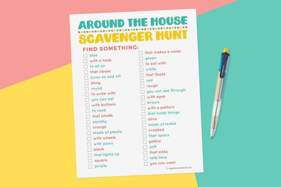 22 Best Scavenger Hunt Ideas for Kids - Indoor and Outdoor ...