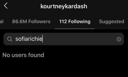 kourtney kardashian sofia richie instagram