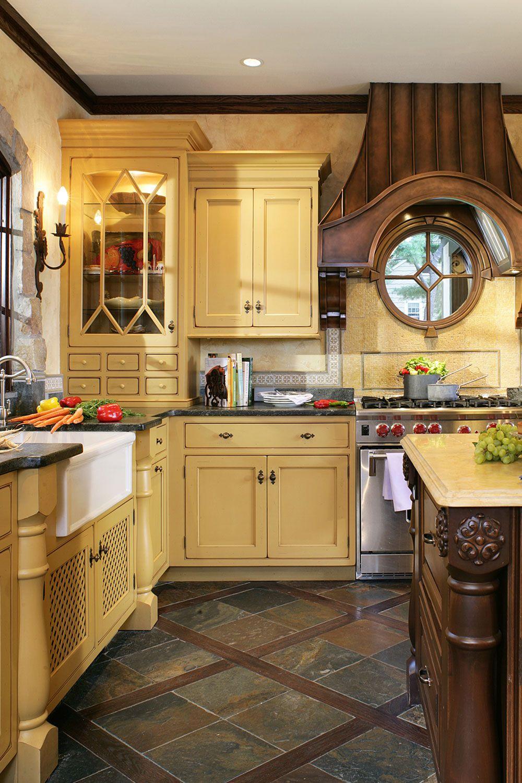 21 Yellow Kitchen Ideas - Decorating Tips for Yellow ... on Rustic:rkh3E0Gkuju= Farmhouse Kitchen Ideas  id=98706