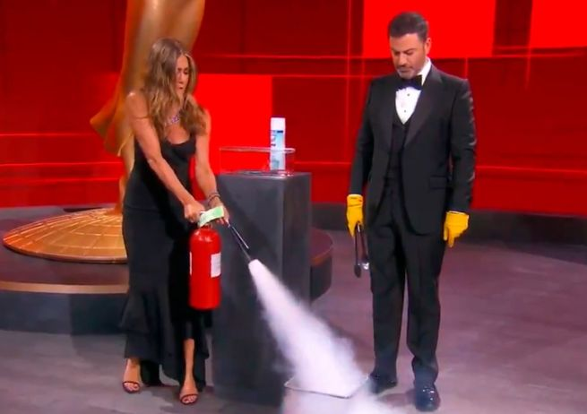 Jennifer Aniston, protagonista de un incendio en los Emmy 2020
