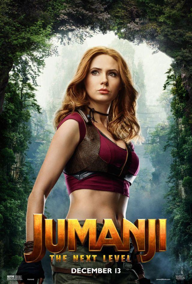 Jumanji siguiente nivel posters personajes karen gillan