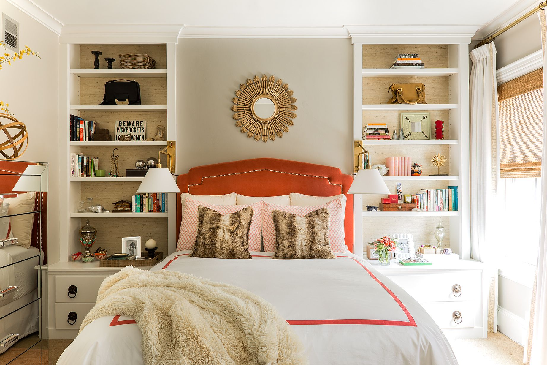 17 Small Bedroom Design Ideas - How to Decorate a Small ... on Small Room Bedroom Ideas  id=59491
