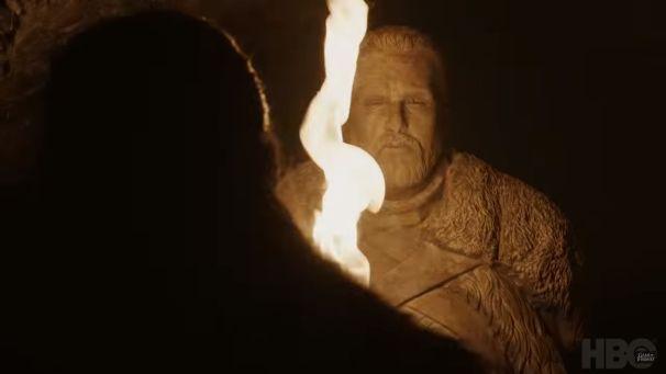 Jon Snow (Kit Harington) statue in Game of Thrones