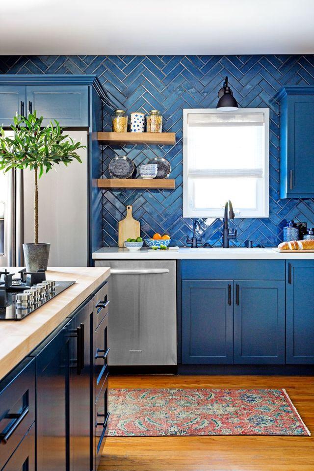 Encimera, Sala, Cocina, Ebanistería, Azul, Muebles, Diseño de interiores, Propiedad, Piso, Pared,