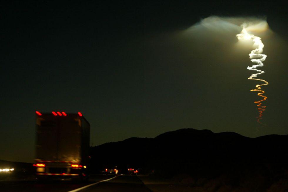 a launch of an unarmed minuteman iii intercontinental ballistic missile from vandenberg air force ba