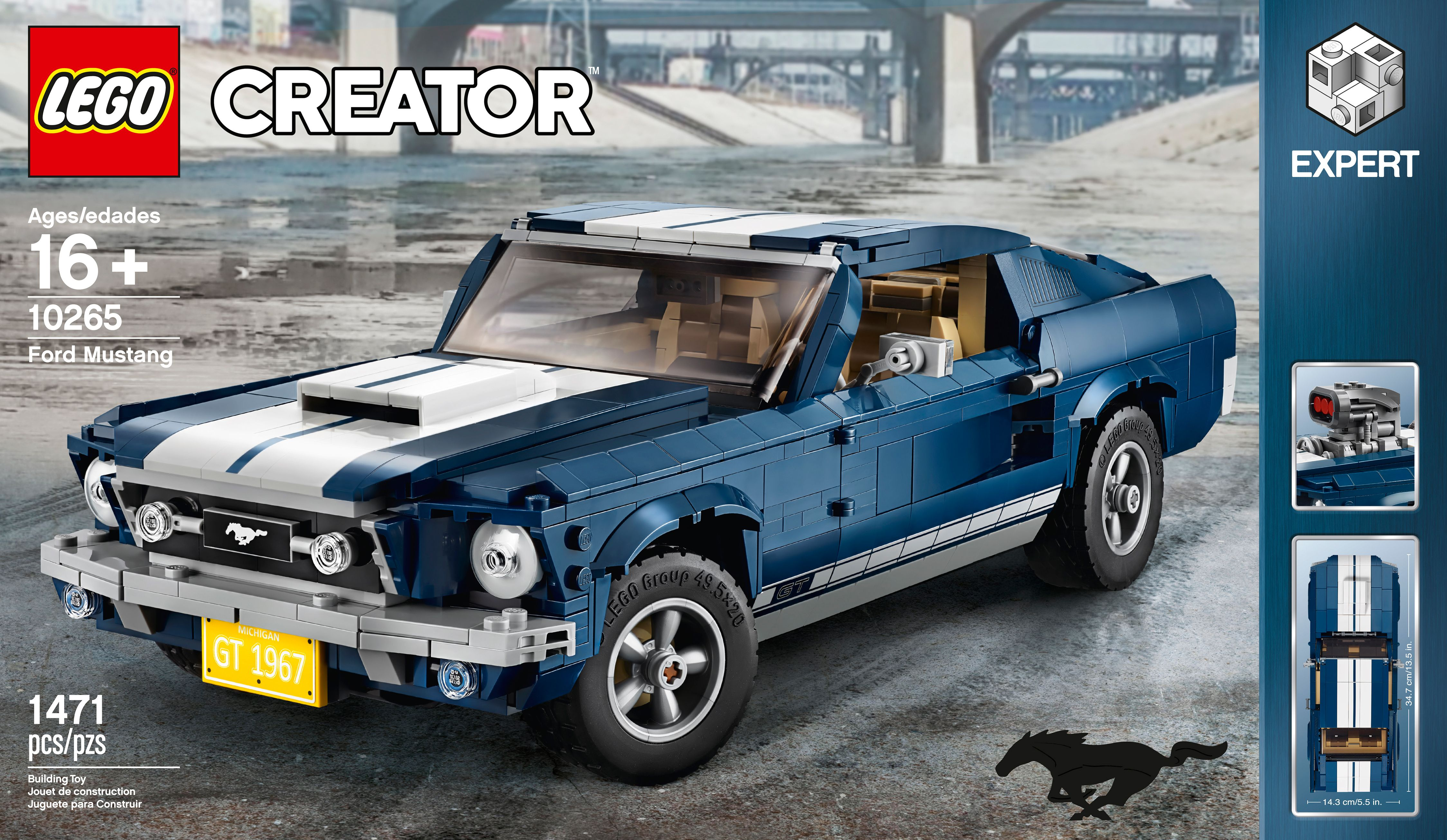 The wheelbase is the same on all three models. Lego Creator Makes A 1967 Ford Mustang Fastback Kit